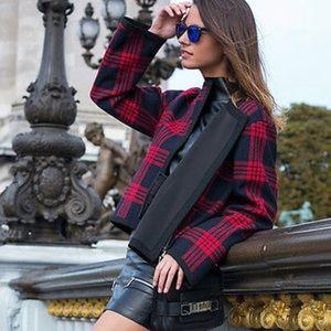 Zara Studio Short Plaid jacket
